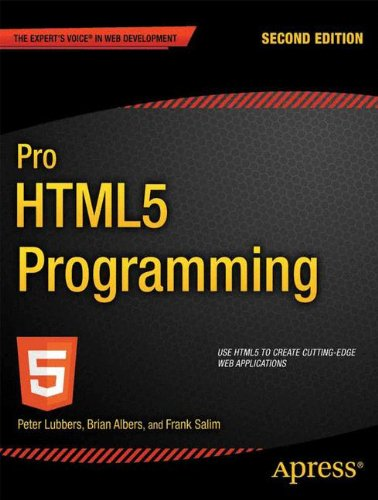 Large book cover: Pro HTML5 Programming