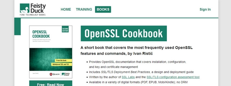 OpenSSL Cookbook: A Guide to the Most Frequently Used OpenSSL Features and Commands by Ivan Ristic