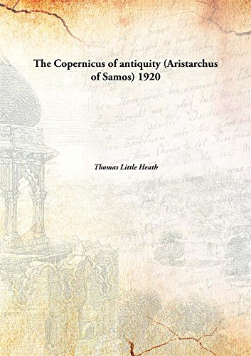 Large book cover: The Copernicus of Antiquity: Aristarchus of Samos